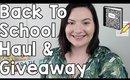 Back To School Haul & School Supplies Giveaway | OliviaMakeupChannel