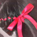 Pink Ribbon French Braided Hairstyle youtube tutorial