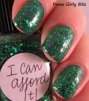 Lynnderella I Can Afford it,  over Orly  lucky duck