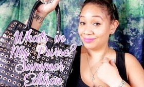 What's in My Bag, Summer Edition.  A Designer handbag lover with a Mommy twist.