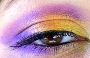 purple, blue, orange and gold (: