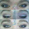 Soft gradient shadow with cat eye liner...