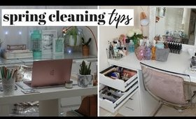 SPRING CLEANING TIPS FOR YOUR OFFICE & MAKEUP ROOM