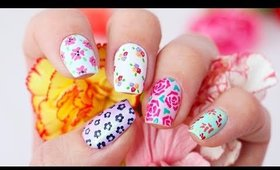 5 Floral Nail Art Designs Using ONLY Toothpicks!