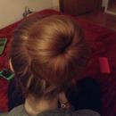 Bun with a hair donut :)