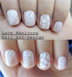 t's summer a.k.a season of the parties, celebrations and weddings. Since there is always a reason to dress up, I wanted to create a lace nail art design that would be perfect to wear to such special occasions. There are two options for the accent nail to choose from and both are super cute! http://www.sunshinecitizen.com/mmm-lace-nails/