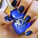 HD blue with black shatter mani!