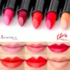 Rimmel London Kate Moss Lipstick Swatches