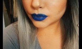 blue lips & white liner