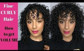 Fine Curly Hair & How to get Volume