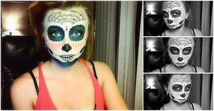 First go around attempting the classic sugar skull look
