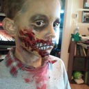 Zombie face side