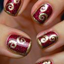 Half-frame swirl nails