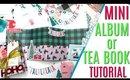 How to Make a Mini Tea Book, 12 Days of Christmas Day 7, Mini Album Tea Book Tutorial