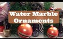 Water Marble #Christmas Ornaments