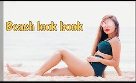 Beach look book featuring swimsuits for all.