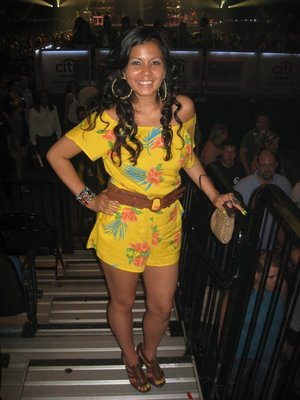 Yellow Romper from Heritage, Jessica Simpson Heels, Jewelry from For love 21