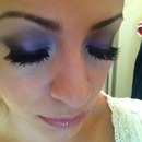 Smokey purple eye