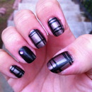 Metallic Plaid Nails
