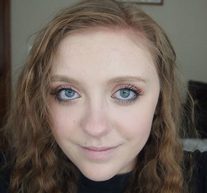 This was back with my blonde hair.  I did a subtle orange eyeshadow and sad looking liner along with pale lips.