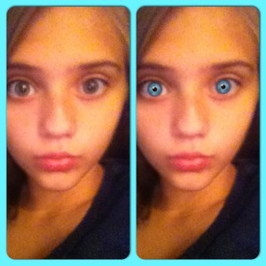 I was on the Eye Color app from Modiface. (:
