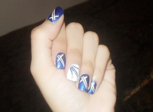 my 4th of july nails :)