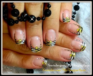 Tiger Print French Tip Nails | Animal Print Nail Art https://www.youtube.com/watch?v=TJwSXlZTc-k