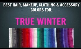 Winter Color Palette: Best Hair, Makeup, Outfit Colors - Cool Skin Tone / Undertone - Color Analysis