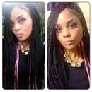 Senegalese twist with peekaboo color