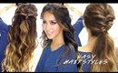 2 ★ Super-EASY SPRING HAIRSTYLES | Braided Half-Up & Cute Ponytail Hairstyle
