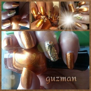 fun metallic mango from Kleancolor nail polish