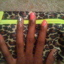 Glam bag inspired mani