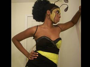 A DIY honey bee costume -my friend and I decided to make our own for Halloween.