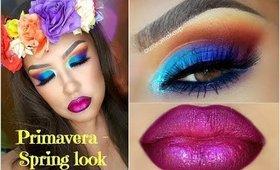 Colores de Primavera maquillaje / Colorful Spring Makeup tutorial | auroramakeup