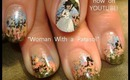 lady with a parasol french impressionism monet design: robin moses nail art tutorial
