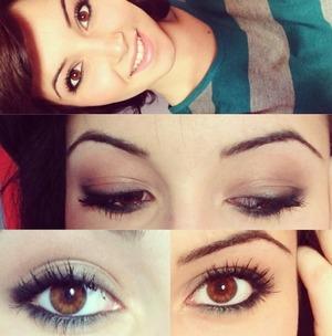 Black smokey eyes with emerald waterline :) inspired by Arabian makeup