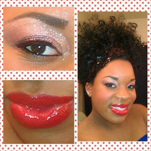 pigments and glitters ! glossy red lips