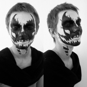 a look for halloween I did on my brother