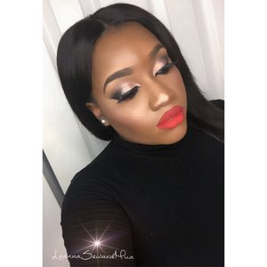 "Face: #BlackOpalbeauty creme foundation in the shade Beautiful Bronze Eyes: #UrbanDecay Naked 2 Palette,#Makeupgeek eyeshadow in Latte  Highlight/Blush: #gerardcosmetics Lucy highlight and #MAC mineralize blush in Love Joy  Lips: #Colourpopcosmetics Ultra matte lipstick in ""creeper""  Contacts: @prettyfabuloux ""peanut Gold"""
