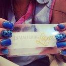 Nail art- Animal Print- Blue