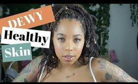 DEWY GLOWY Skin W/ MAKEUP |  Eyebrow Tutorial