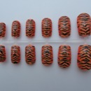 Tiger Print Nails