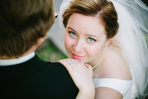 I did my sisters wedding makeup (and her bridal party - obviously myself included) and she wanted me to use this in my photos on this site.  We opted for a simple look focusing on clear skin and an elegant line of liquid liner for a subtle winged look, and a neutral lip.  I feel like this look really suited her.
