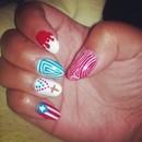 Puerto Rican Pride Mani - Left Hand