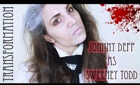 Johnny Depp Transformation as Sweeney Todd