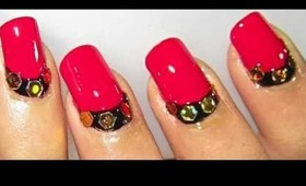 Glam RedGold Nailart Tutorial.... :-)