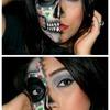 Sugar skull half-face