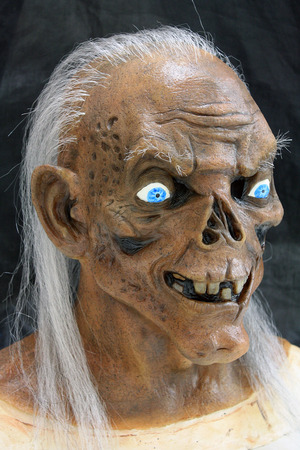 The Crypt Keeper latex mask that I sculpted, poured and painted.