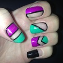 Neon Cut Out Nails