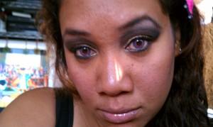 Dramatic smokey eye using Urban Decay naked palette
